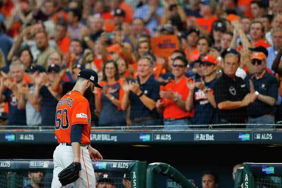 PHOTOS: What fans can expect at the Astros' first two ALCS gamesDallas Keuchel will start for the Astros against the Yankees in Game 1 of the American League Championship Series on Friday in front of a full house at Minute Maid Park.Browse through the photos above to see what fans can expect to see when they get to the ballpark for Games 1 and 2. Photo: Brett Coomer, Houston Chronicle / © 2017 Houston Chronicle