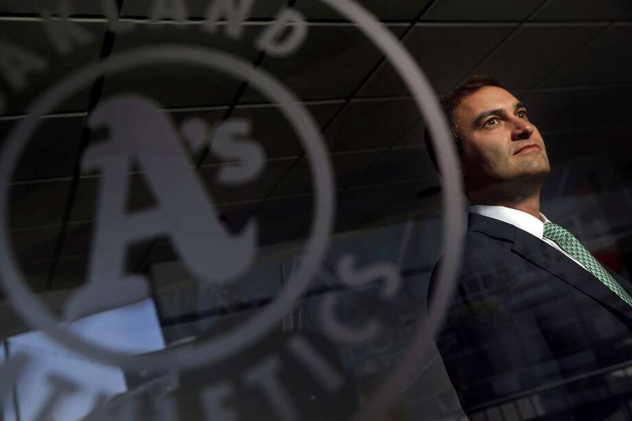 Dave Kaval is a Stanford graduate and instructor who, as A's president, helped identify a site for a new Oakland ballpark. He is seen as the perfect person to shepherd the plans through any opposition. Photo: Carlos Avila Gonzalez, The Chronicle