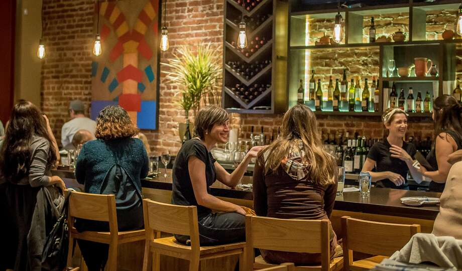 People have dinner at La Marcha in Berkeley. Photo: John Storey John Storey