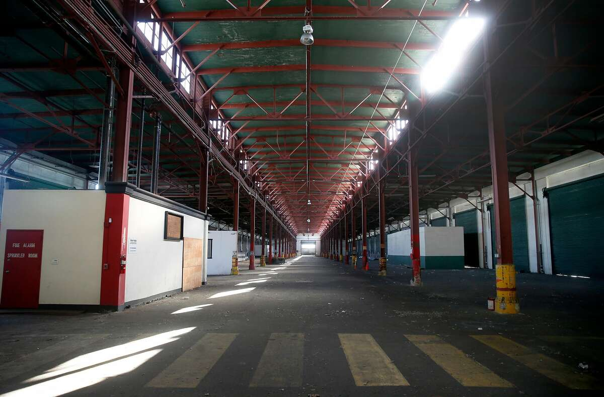 The cavernous shed inside Pier 38 is seen in San Francisco, Calif. on Thursday, Sept. 21, 2017. A plan to renovate the pier for tech office space was abandoned when the project proved to be too costly.