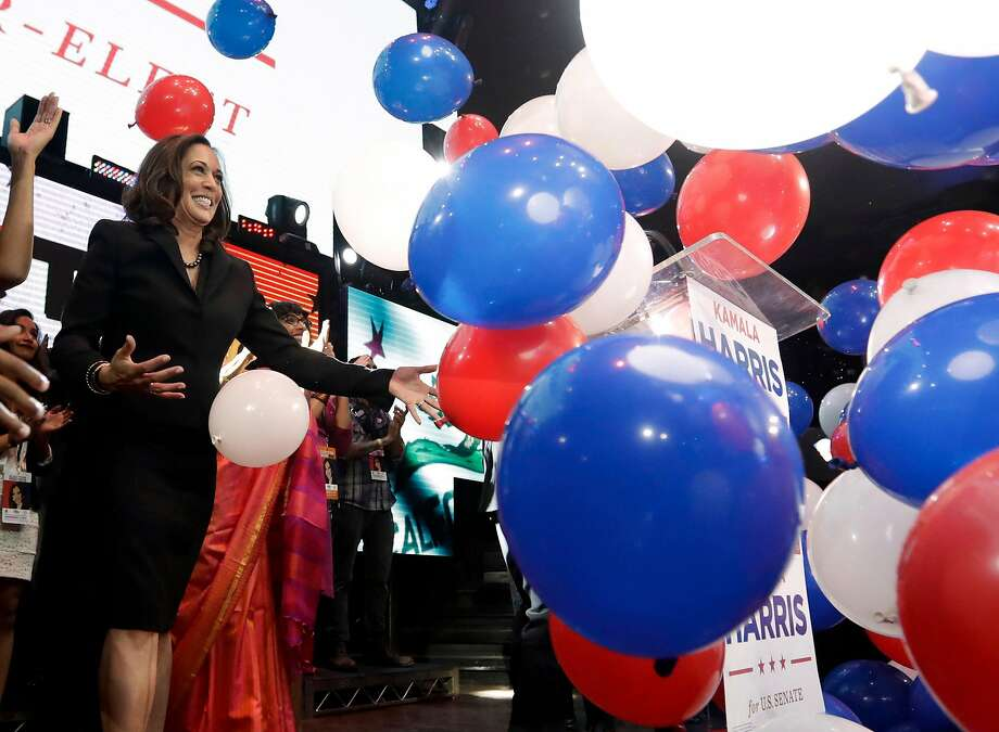 "Democrat Kamala Harris was elected U.S. senator from California after facing fellow Demo crat Loretta Sanchez in the Novem ber general election. The ""top-two"" system means Repub licans aren't likely to make it past the primaries in statewide races. Photo: Chris Carlson, Associated Press"