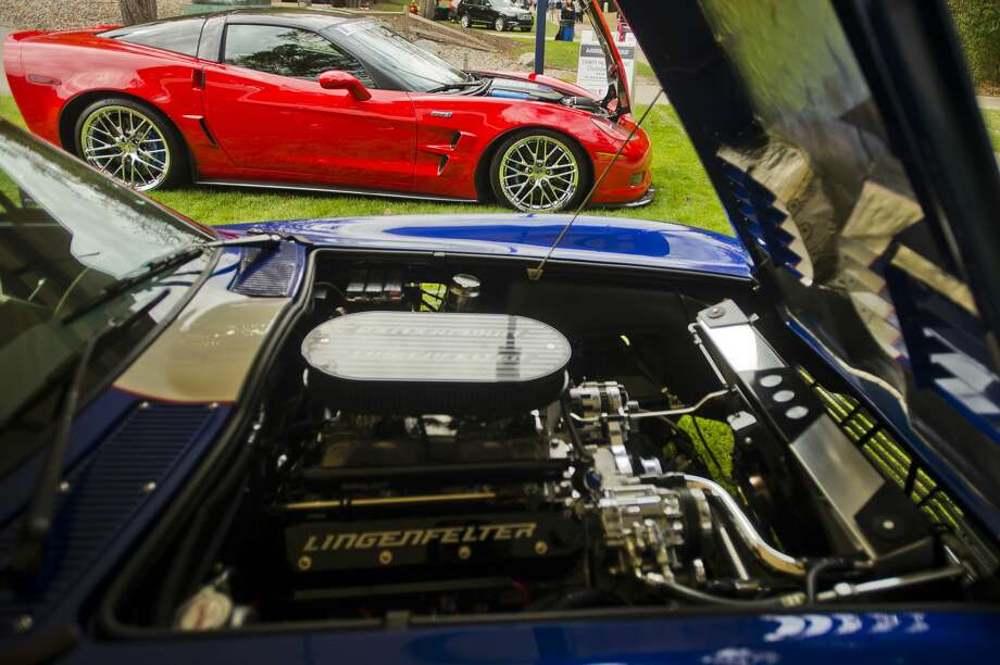 A Lingenfelter Corvette ZR1, top, and a Lingenfelter Superformance Grand Sport Corvette, bottom, are displayed during the Northwood University International Auto Show on Friday, Oct. 6, 2017. (Katy Kildee/kkildee@mdn.net) Photo: (Katy Kildee/kkildee@mdn.net)