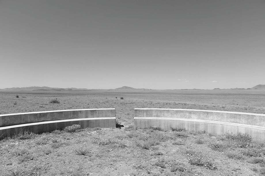 """""""Joey's bench"""" at Mimms Ranch, 2016. Photo: Kathleen Shafer, FromMarfa: The Transformation Of A West Texas Town2017, University Of Texas Press"""