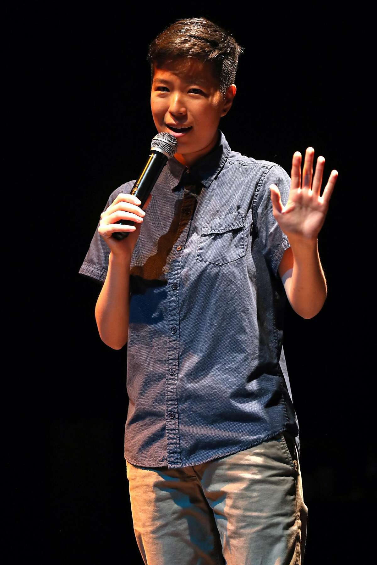 Irene Tu performs during Tourettes without Regrets at Oakland Metro in Oakland, Calif., on Thursday, October 5, 2017.