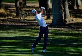 NAPA, CA - OCTOBER 06:  Maverick McNealy plays his shot on the 16th hole during the second round of the Safeway Open at the North Course of the Silverado Resort and Spa on October 6, 2017 in Napa, California.  (Photo by Robert Laberge/Getty Images)