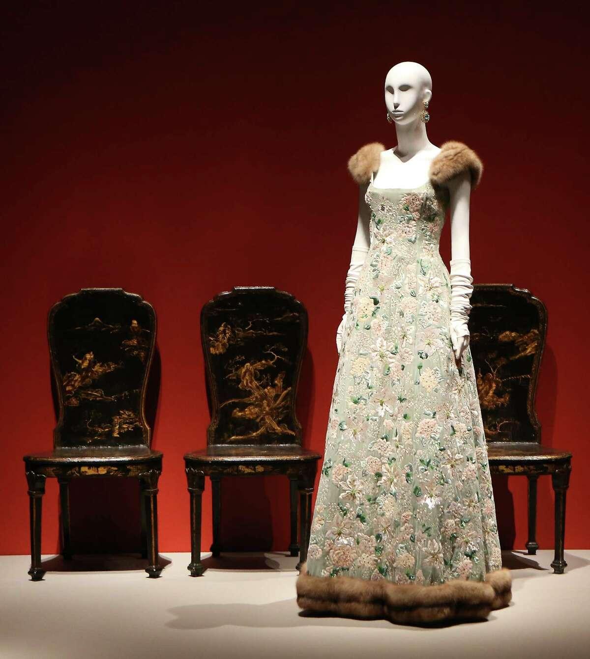 "Museum of Fine Arts, Houston exhibition ""The Glamour and Romance of Oscar de la Renta,"" Wednesday, Oct. 4, 2017, in Houston. ( Steve Gonzales / Houston Chronicle )"