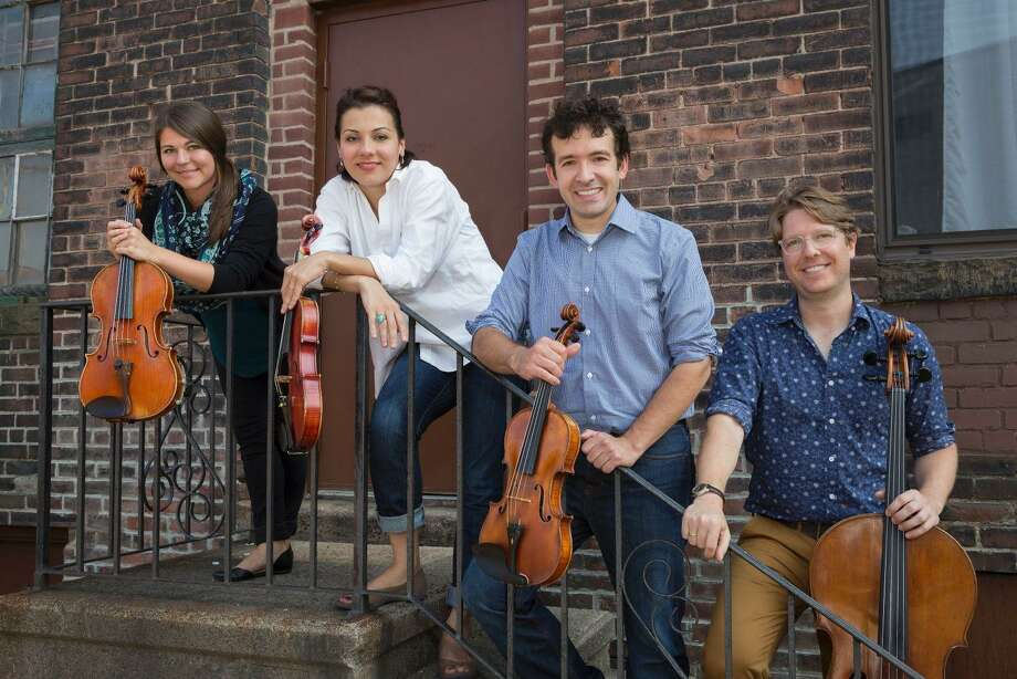 From left, Annalisa Boerner, Yaira Matyakubova, Gregory Tompkins and Philip Boulanger of the Haven String Quartet. Photo: Contributed / Music Haven