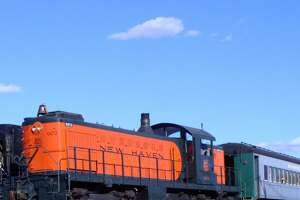 At the Danbury Railway Museum, visitors are invited to ride the Pumpkin Patch Train through the historic rail yard during October weekends in a 1920s passenger coach