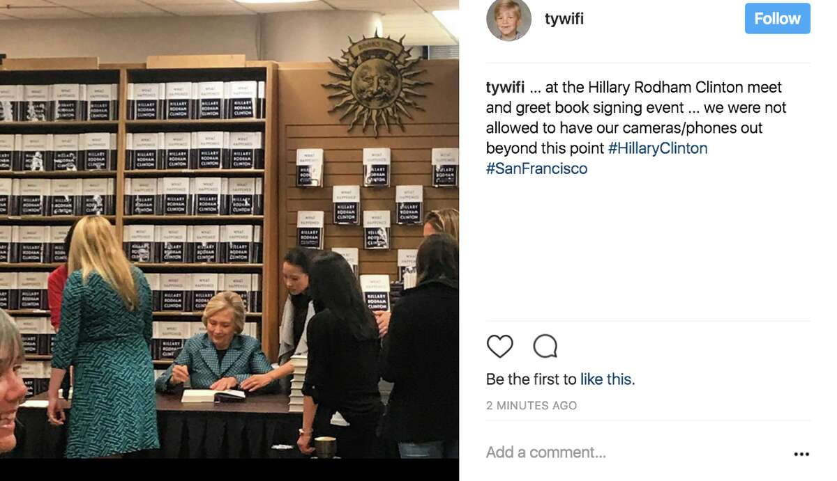 Fans and supporters waited in droves outside Book Inc. in San Francisco to get their copies of Hillary Clinton's book signed by the lady herself on Oct. 6.