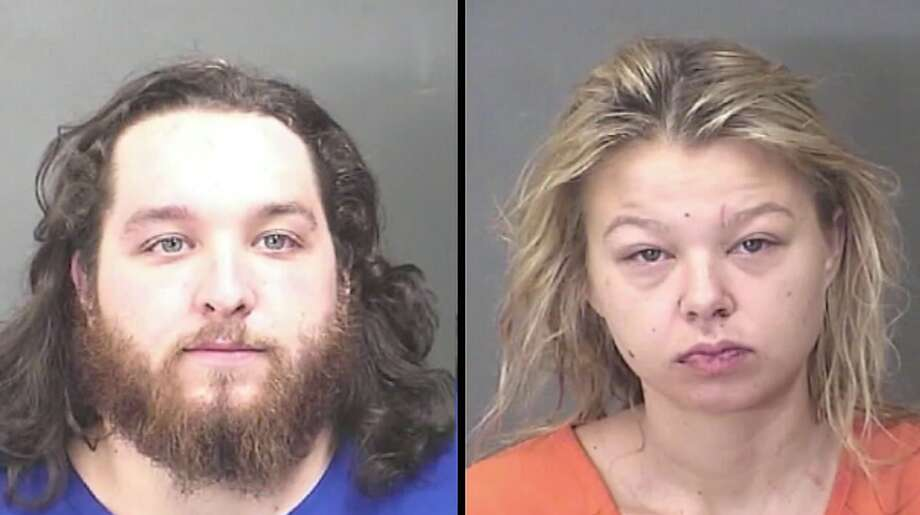 Garett Wilder, 26, and Brittany Farber, 24 were both charged with public intoxication after fighting inside a Houston-area Bayou City Wings restaurant. See screen shots from the video.