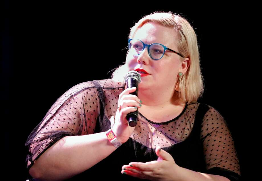 Writer Lindy West performs onstage at the Larkin Comedy Club during Colossal Clusterfest at Civic Center Plaza and The Bill Graham Civic Auditorium on June 4, 2017 in San Francisco. Photo: FilmMagic
