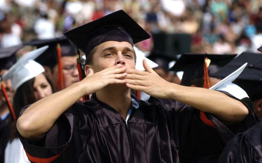 Dylan Pape at the 2008 Stamford High School graduation ceremony. Photo: File / ST / Stamford Advocate File Photo