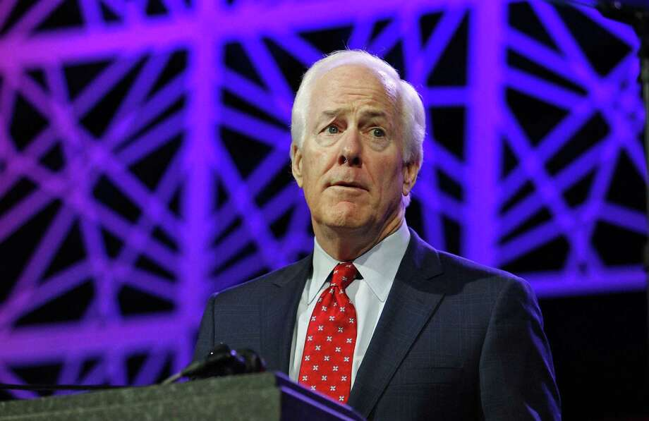 FILE PHOTO — Sen. John Cornyn (R-Texas) speaks during the Republican Party of Texas state convention on May 13, 2016, in Dallas. (Paul Moseley/Fort Worth Star-Telegram/TNS) Photo: Paul Moseley /TNS / Fort Worth Star-Telegram