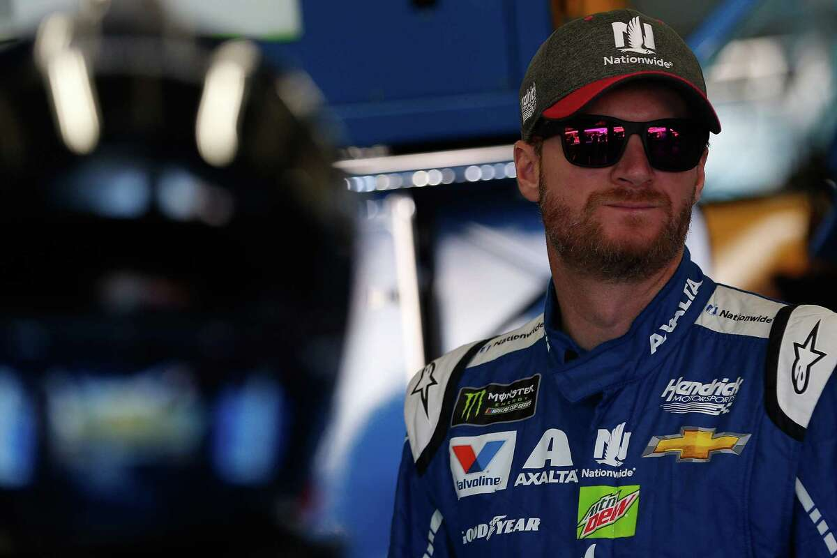 CHARLOTTE, NC - OCTOBER 06: Dale Earnhardt Jr., driver of the #88 Nationwide Chevrolet, prepares to drive during practice for the Monster Energy NASCAR Cup Series Bank of America 500 at Charlotte Motor Speedway on October 6, 2017 in Charlotte, North Carolina. (Photo by Brian Lawdermilk/Getty Images) ORG XMIT: 691602975