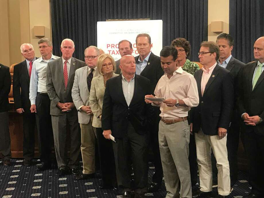 Texas U.S. Rep Kevin Brady and Ways & Means Republicans met on Monday, Oct. 5 discuss their plans for tax reform. Photo: Kevin Diaz