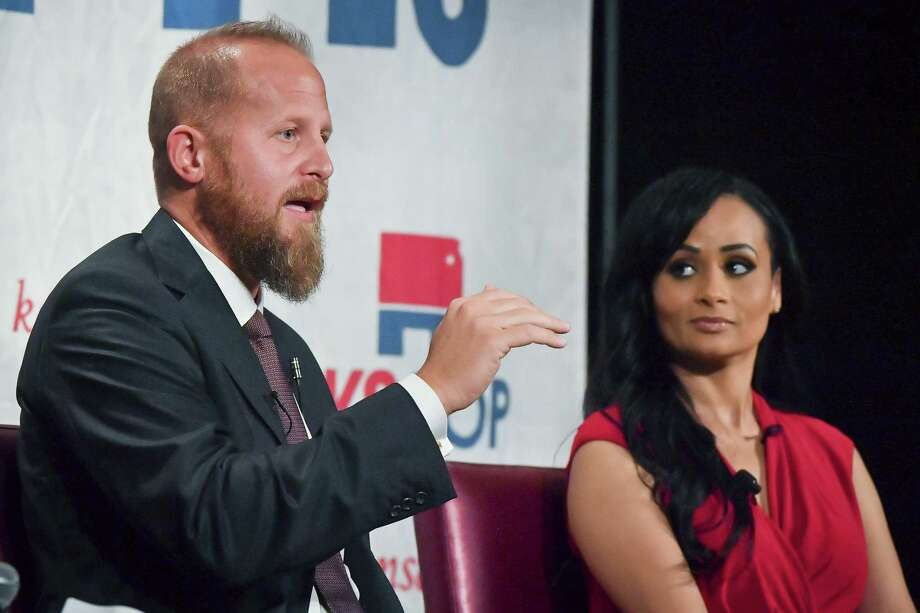 """President Donald Trump's digital director Brad Parscale, seen speaking in Kansas in September, will discuss his work for Trump's campaign on """"60 Minutes"""" on Sunday. Photo: Rex Wolf /Associated Press / The Topeka Capital-Journal"""