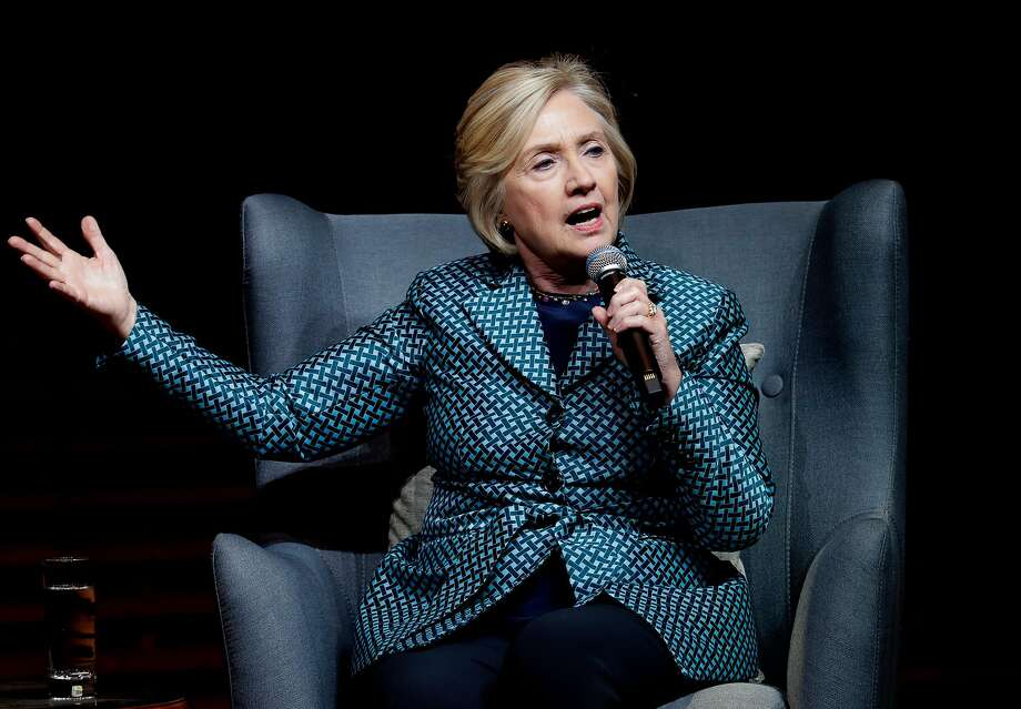 Former Secretary of State and 2016 Democratic presidential candidate Hillary Clinton speaks at Stanford University. Photo: Michael Macor, The Chronicle