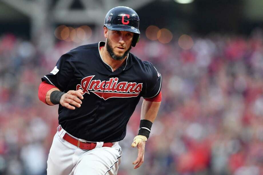 CLEVELAND, OH - OCTOBER 06:  Yan Gomes #7 of the Cleveland Indians advances to third base against the New York Yankees during game two of the American League Division Series at Progressive Field on October 6, 2017 in Cleveland, Ohio.  (Photo by Jason Miller/Getty Images) ORG XMIT: 775053729 Photo: Jason Miller / 2017 Getty Images