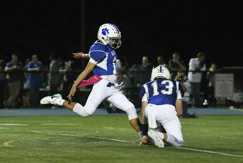 Images from the Bunnell Bulldogs/New Fairfield Rebels football game played at Bunnell High School on Friday October 6, 2017 in Stratford, Connecticut.