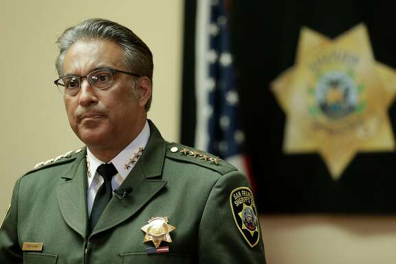 FILE - In this Monday, July 6, 2015, file photo, San Francisco Sheriff Ross Mirkarimi fields questions during an interview in San Francisco. Mirkarimi was already fighting for his political life. Then his jail released a Mexican national wanted by federal immigration authorities who wanted to deport the man for the sixth time. The jail�??s decision to release Juan Francisco Lopez-Sanchez,  who is charged with randomly shooting to death a young San Francisco woman shortly after his release, has placed Mirkarimi squarely in the center of a national debate over immigration. (AP Photo/Ben Margot, File)
