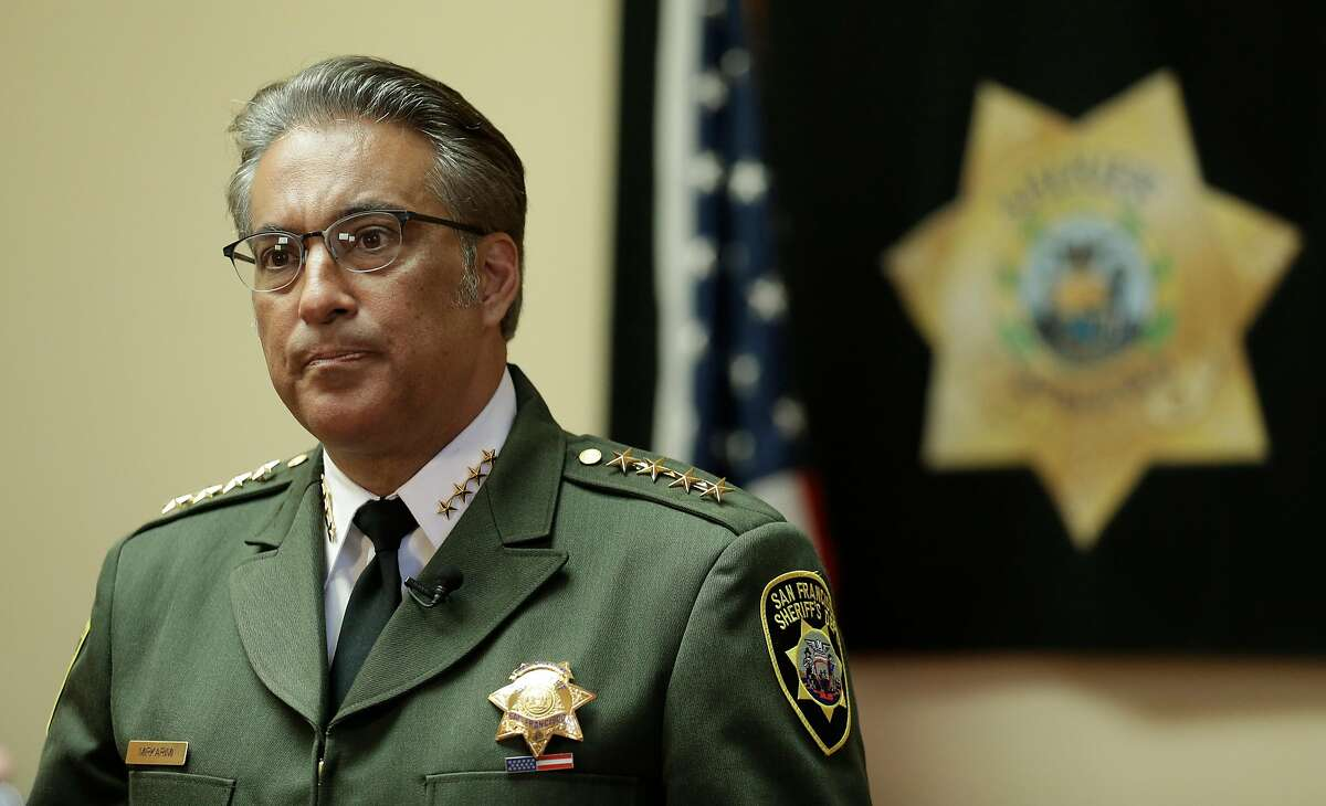 On July 6, 2015, then San Francisco Sheriff Ross Mirkarimi fields questions during an interview.