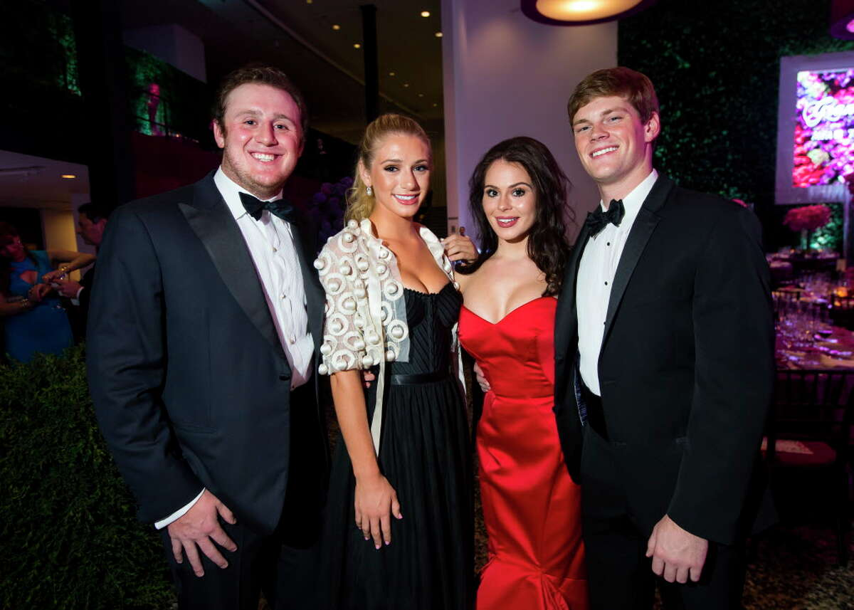 Caldwell Flores, Alanna Flores, Meredith Flores and Paul Smith during the Museum of Fine Arts Grand Gala Ball on Friday, October 6, 2017, in Houston.