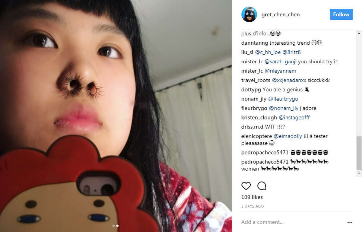 Nose Hair Extensions: We have several questions...starting with, why? Photo: @gret_chen_chen Instagram