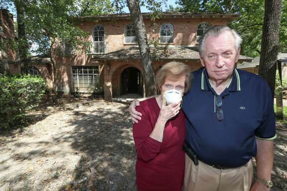 Judy and Dick Lupo's home near Addicks Reservoir flooded and has sinced caused Judy's sinuses to flared up are photographed  Thursday, Oct. 5, 2017, in Houston. The Lupo's have moved out of the house because just being outdoors in that environment causes her symptoms to worsen.