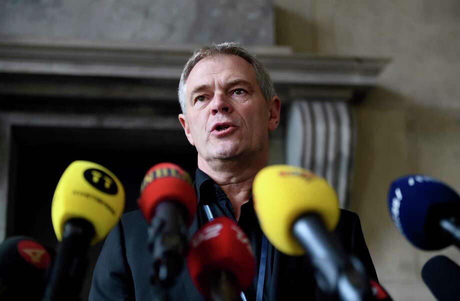 Chief Police investigator Jens Moeller makes a comment concerning the latest findings in connection with the Kim Wall murder case during a press conference at police headquarters in Copenhagen, Denmark, Saturday, Oct. 7, 2017.  Danish police say divers have found the decapitated head, legs and clothes of a Swedish journalist, who was killed after going on a trip with an inventor on his submarine. (Tariq Mikkel Khan/Ritzau via AP) Photo: Tariq Mikkel Khan, SUB / Ritzau Foto