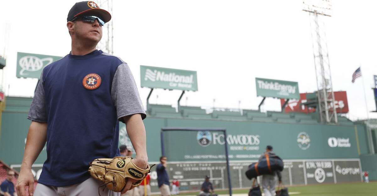 Houston Astros ALDS starting pitcher Brad Peacock during the Astros workout at Fenway Park, Saturday, Oct. 7, 2017, in Boston , ahead of Sunday's ALDS Game 3. ( Karen Warren / Houston Chronicle )