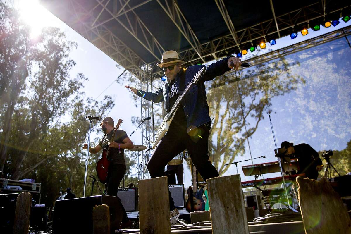 Ozomatli performs during the Hardly Strictly Bluegrass music festival at Golden Gate Park on Saturday, Oct. 7, 2017, in San Francisco, Calif.