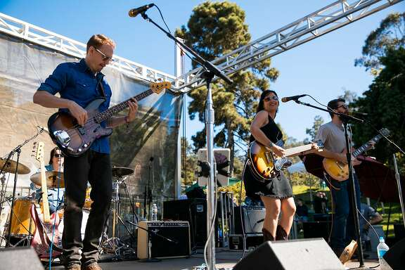Midnight North performs at the Porch Stage at the Hardly Strictly Bluegrass in San Francisco, Calif. Saturday, October 7, 2017.