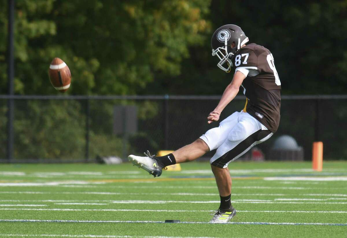 Game action images between the Brunswick Bruins and the Kent Lions played at Brunswick School on Saturday October 7, 2017 in Greenwich, Connecticut.