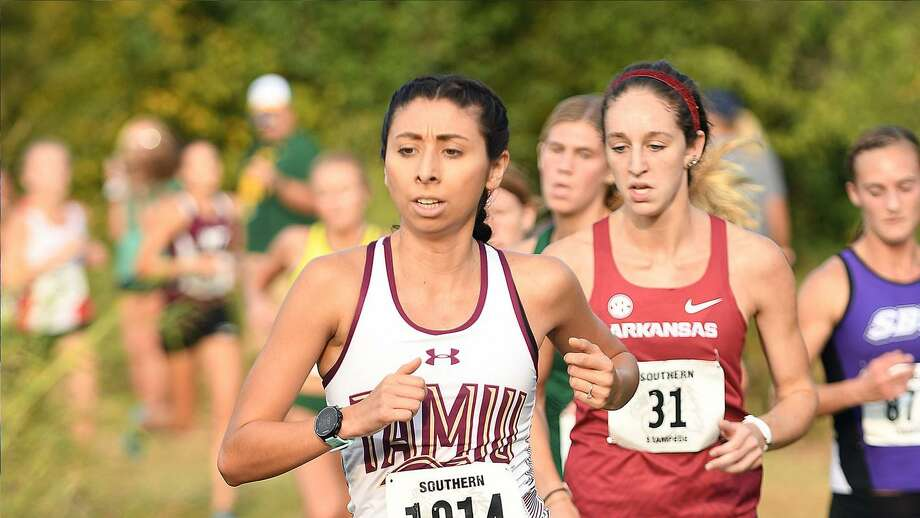 Laredoan Rebekah Hernandez finishes her collegiate cross country career as the best runner in TAMIU history on Saturday competing at the NCAA Division II Cross Country Championships in Evansville, Indiana. Photo: Courtesy Of TAMIU Athletics, File