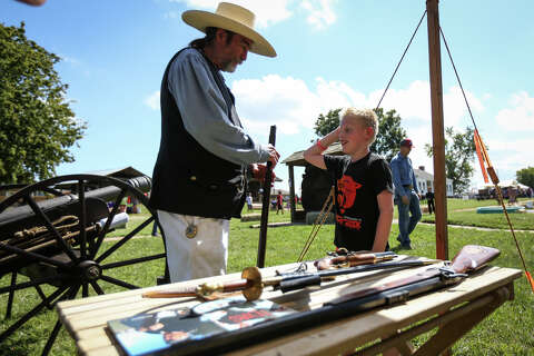 Last Buffalo Soldier visits more compact Texian Heritage
