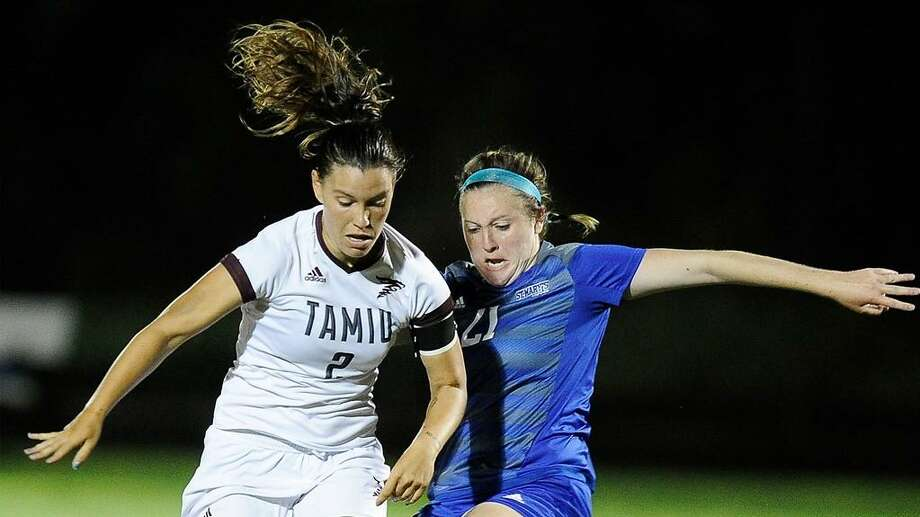 Sophomore forward Cio Bargallo broke the single-season TAMIU records for goals and points Saturday in a 2-2 draw at St. Mary's. Photo: Courtesy Of TAMIU Athletics, File