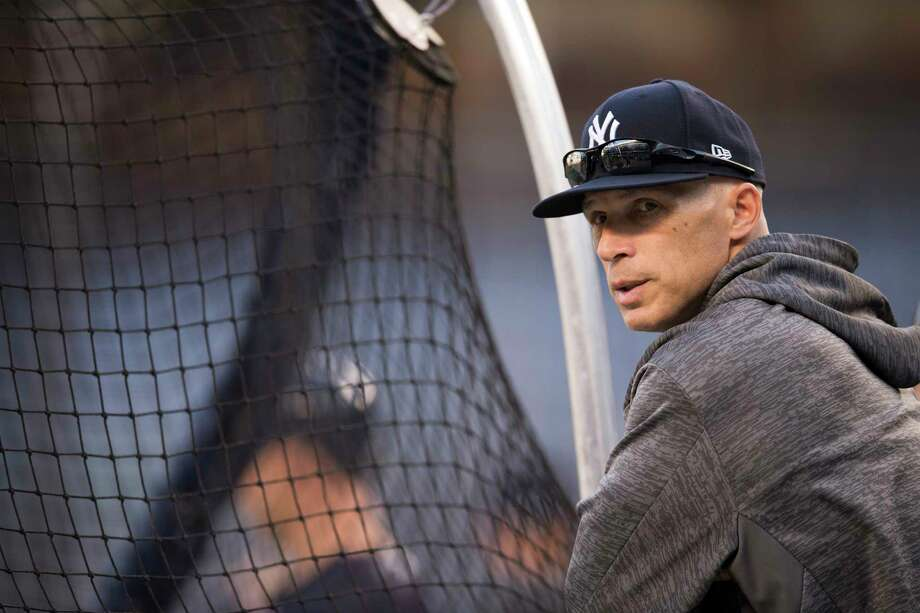 Joe Girardi, the New York Yankees manager, on hand for batting practice before the 2017 American League Wild Card Game, at Yankee Stadium in the Bronx, Oct. 3, 2017. The Minnesota Twins face the Yankees in a single game for a right to face the Cleveland Indians in the playoffs. (Ben Solomon/The New York Times) ORG XMIT: XNYT199 Photo: BEN SOLOMON / NYTNS