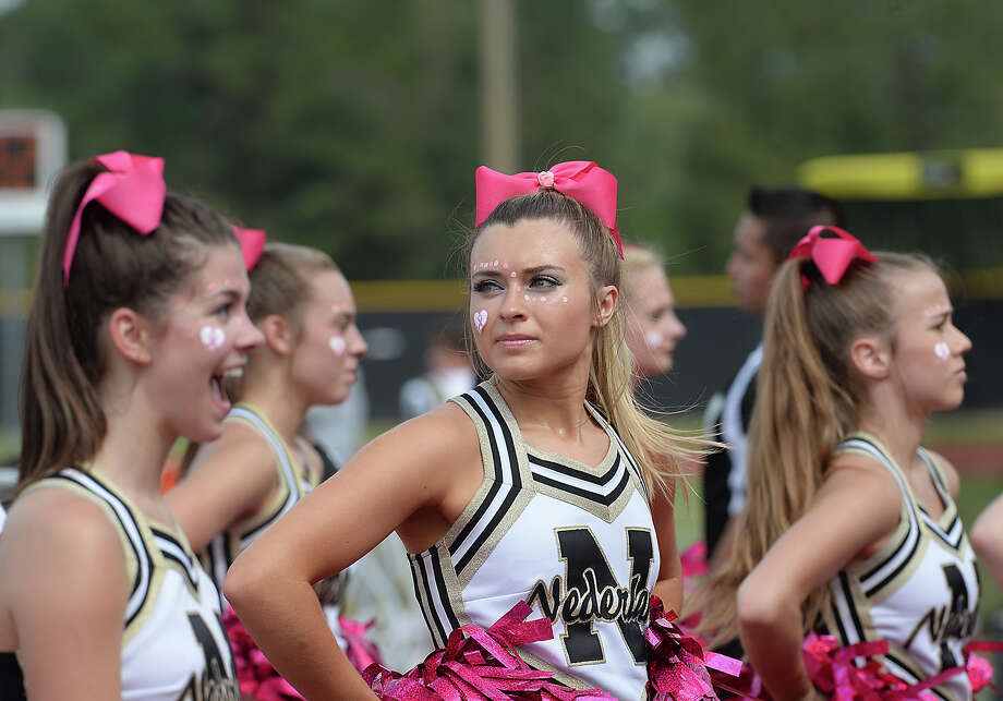 Nederland's keep the Bulldog spirit alive on the sidelines as they face Vigor's Pirates Saturday at Vidor High School. Photo taken Saturday, October 7, 2017 Kim Brent/The Enterprise Photo: Kim Brent / BEN