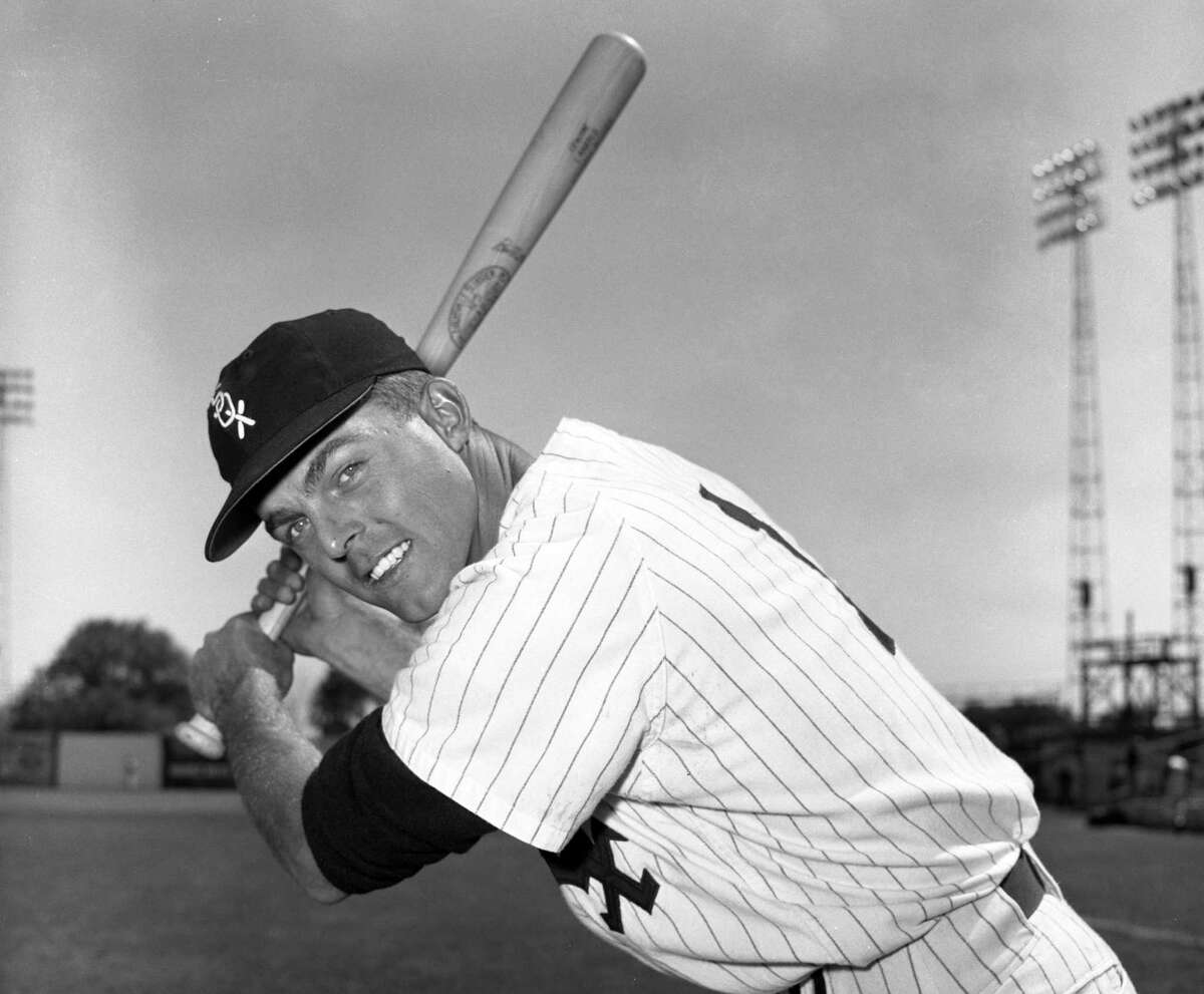 Outfielder Jim Landis of the Chicago White Sox, posing for a portrait during spring training in March 1957 in Tampa, Fla., stole 139 bases in his big-league career.