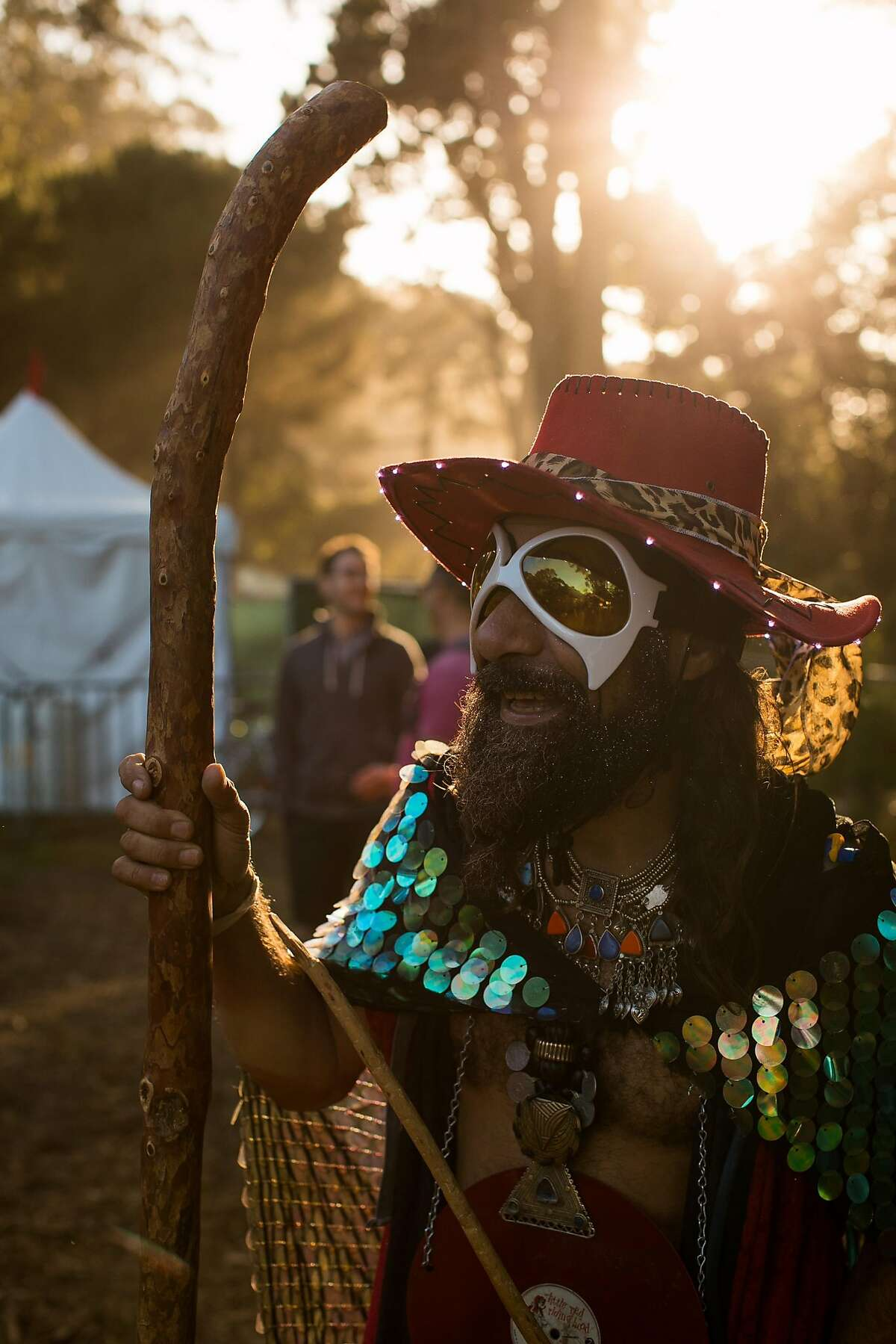 Robert E Micallef, aka the Merlin the Wizard, photographed during the Hardly Strictly Bluegrass in San Francisco, Calif. Saturday, October 7, 2017.