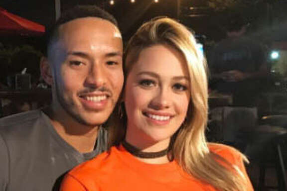 The Houston Astros' Carlos Correa and his girlfriend Daniella Rodriguez stopped by the Burger Joint after the Game 1 win over the Boston Red Sox on Oct. 5, 2017.