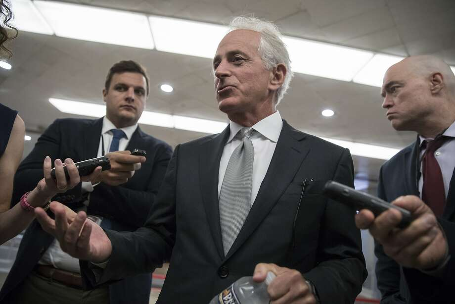 "Sen. Bob Corker, R-Tenn., called the White House ""an adult day care center"" after President Trump attacked him. Photo: J. Scott Applewhite, Associated Press"