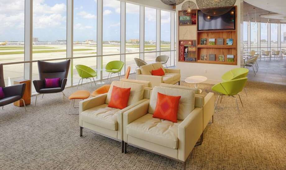 It's getting harder to get in AMEX lounges like this one in Miami Photo: American Express