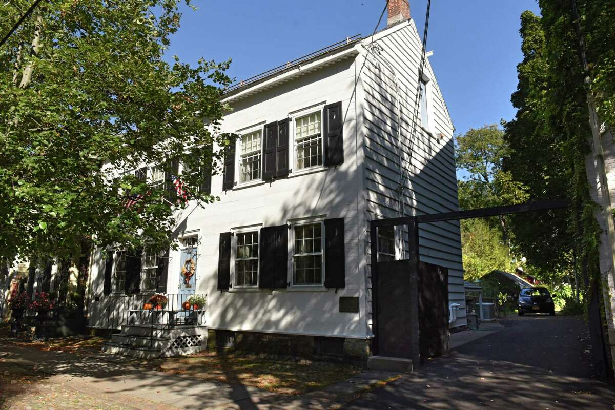 Exterior of the Hendrick Brouwer House at 14 N. Church St. on Wednesday, Oct. 4, 2017 in Schenectady, N.Y. The house, dated to 1727, was donated by the Kindl Family to the Schenectady County Historical Society. (Lori Van Buren / Times Union)