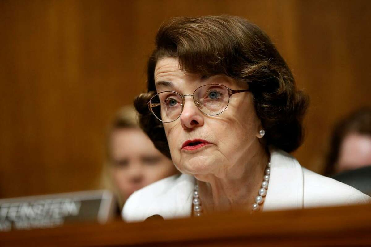 Sen. Dianne Feinstein, D-Calif., ranking member on the Senate Judiciary Committee, speaks on Capitol Hill in Washington. Feinstein is giving her strongest hints so far that she's going to seek a fifth full Senate term in 2018. She told NBC's