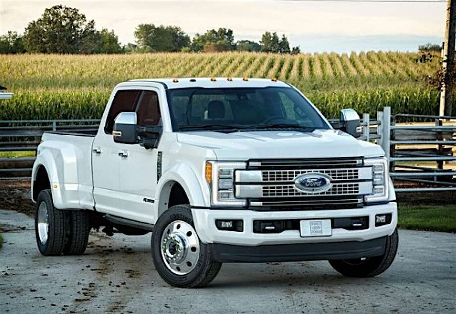 Ford released its 2018 F-450 pick-up truck with a sticker price of $87,000, and with add-ons and California sales tax, would cost $103,000. Photo: Tom Stienstra, Courtesy Ford Trucks Division
