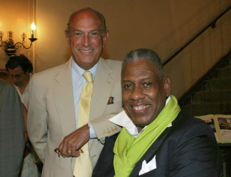 Andre Leon Talley and Oscar De La Renta during Andre Leon Talley Book Signing at Rinozzoli Book Store in New York City - July 19, 2005 at Rinozzoli Book Store in New York City, New York, United States. (Photo by Shareif Ziyadat/FilmMagic) Photo: Shareif Ziyadat, Contributor / This content is subject to copyright.