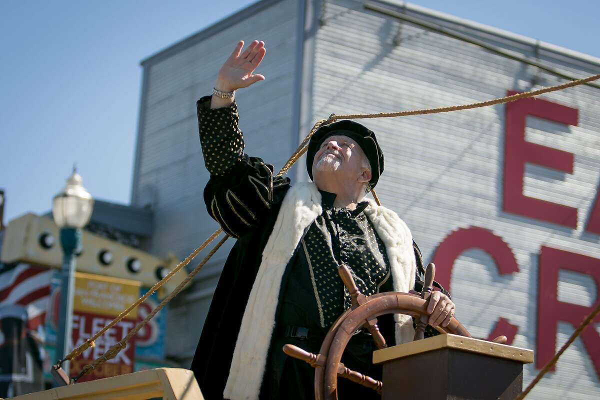 Joey Cervetto as Columbus in the Italian Heritage Parade in San Francisco, Calif. is seen on October 8th, 2017.