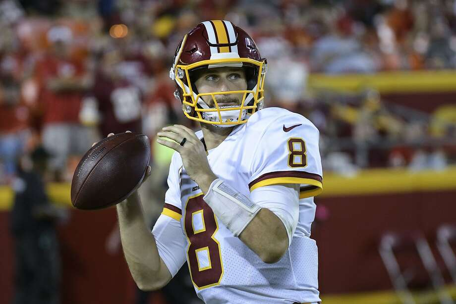 Washington Redskins quarterback Kirk Cousins (8) warmed up before the start of the second half of an NFL football game in Kansas City, Mo., Monday, October 2, 2017. (AP Photo/Reed Hoffmann) Photo: Reed Hoffmann, Associated Press