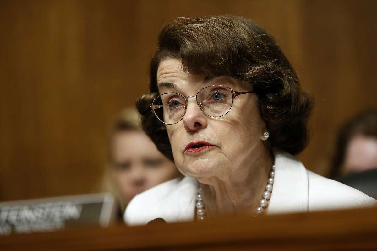 Sen. Dianne Feinstein in July.